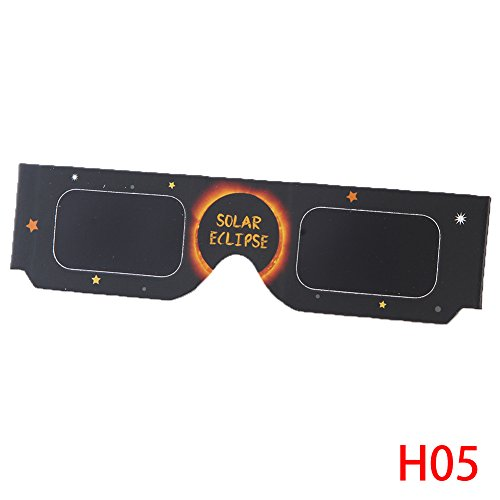 Price comparison product image Suiez Solar Eclipse Glasses CE and ISO Certified Shades for Direct Sun Viewing Viewer & Filter 10pcs H05
