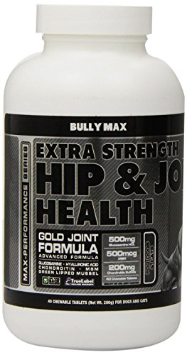 Bully Max Dog Muscle Supplement (Extra Strength Hip & Joint 40-Pills)