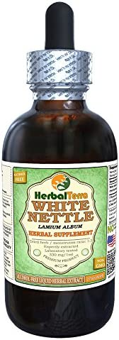 White Nettle Lamium Album Glycerite, Dried Leaves Alcohol-Free Liquid Extract 2 oz