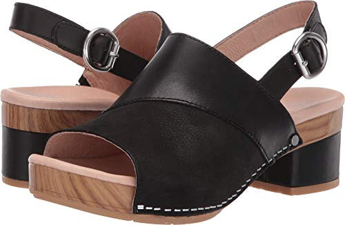 yn Sandal, Black Burnished Calf, 39 M EU (8.5-9 US) ()