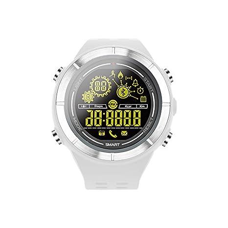MORE FINE Reloj Deportivo Digital Bluetooth Reloj Impermeable Podómetro Contador de Calorías para Hombre Mujeres Adolescentes Compatible con Android iOS ...