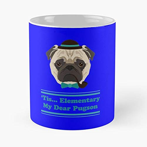 Hip Hipster Pug Pugster Coffee Mugs Unique Ceramic Novelty Cup
