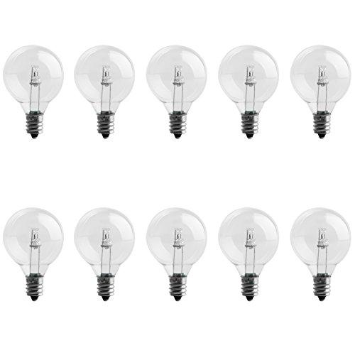 brightown g40 led bulbs clear globe screw base led light bulbs 04w 15 inch pack of 10