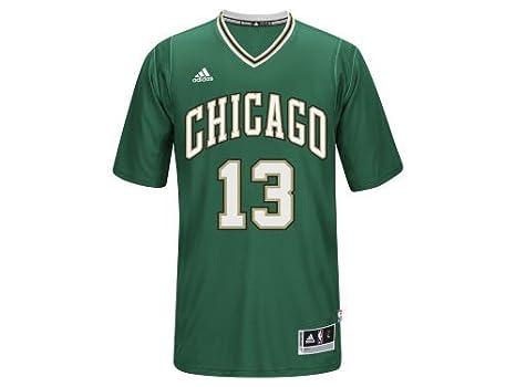 Joakim Noah  13 Chicago Bulls NBA Adidas Green St. Patrick s Day Swingman  Adult Jersey 308032ebd