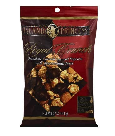 Royal Crunch Chocolate Covered Caramel Popcorn with Macadamia Nuts - 5OZ (141g) (1 pack)