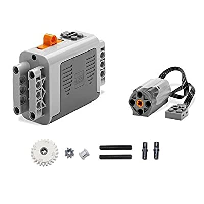 LEGO 9pc Technic & Power Functions Battery Box 8881 M Motor 8883 Clutch Gear and axle Set: Toys & Games