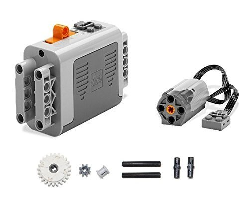 LEGO 9pc Technic & Power Functions Battery box 8881 M Motor 8883 clutch gear and axle SET