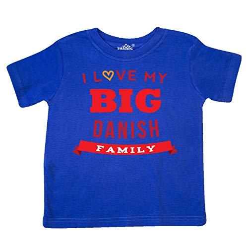 (inktastic - Big Danish Family Pride Toddler T-Shirt 4T Royal Blue 25765)