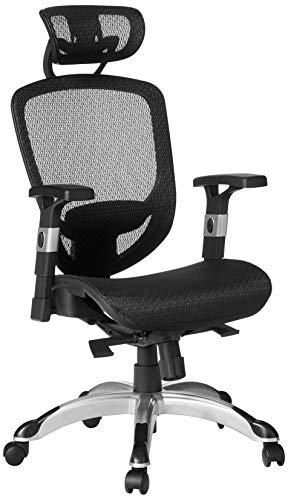 STAPLES Hyken Technical Task (Black, Sold as 1 Each) -Adjustable Breathable Mesh Material Provides Lumbar, arm and Head Support, Perfect Desk Chair for The Modern Office