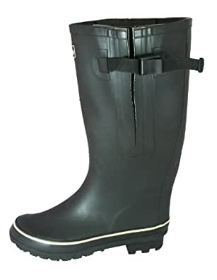 Jileon Extra Wide Calf Rubber Black Rain Boots for Women-Widest Fit Boots in the US-up to 21 inch calves-Wide in the Foot and Ankle-Durable Boots for All Weathers- 6 (XW)