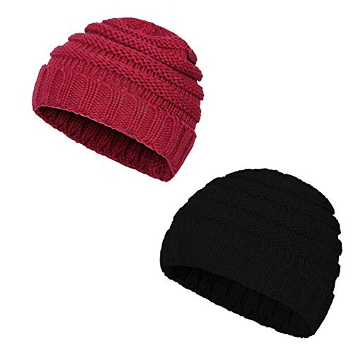 comoxi HAT ベビーボーイズ ユニセックスベビー  2 Pack-red Wine&black B07K15VY99