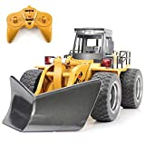 Fisca RC Truck Remote Control Snow Plow 6 CH 2.4G Alloy Snow Sweeper Vehicle 4WD Tractor Toy with Lights