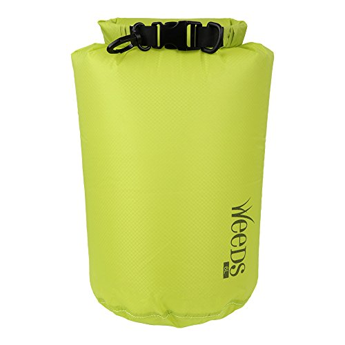Top Bag Light (Weeds Waterproof Dry Bag Super Lightweight Dry Sack 3L 6L 12L Roll Top Compression Sack for Swimming Fishing Boating Rafting Canoeing Kayaking Hiking and Camping (green, 3L))