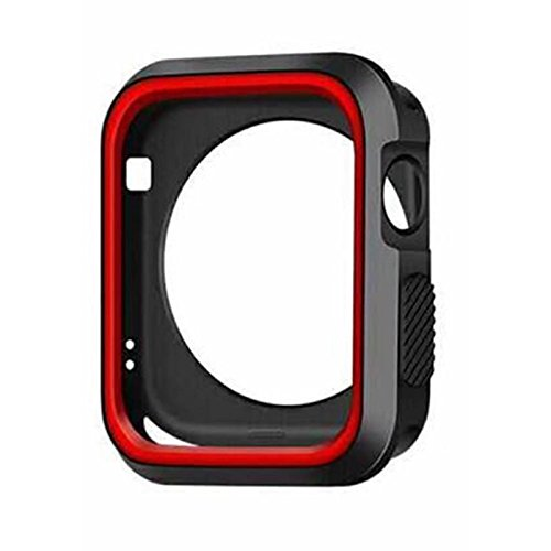 Owill Soft Cover Sports Silicone Bumper Protected Case For Apple Watch Series 3 38mm (Red) - Red Sport Series Slip