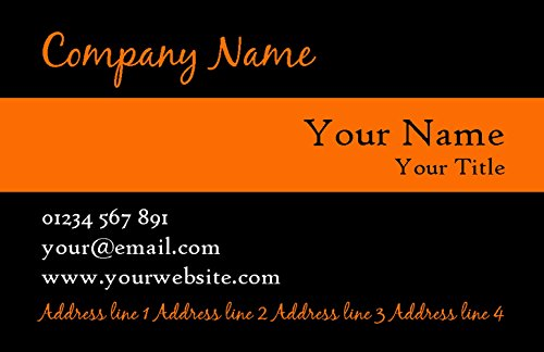 With Black Business Stripe Personalized Black With Orange Cards Orange Stripe Personalized RWwaX
