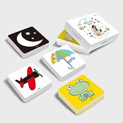 48 piezas de juguetes educativos tempranos para bebés de 0 a 24 meses, tarjeta cognitiva para bebé con estimulación visual de estimulación de animales,regalo de bebé recién nacido…