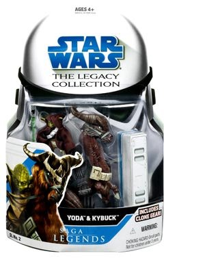 Star Wars Legacy Collection Yoda & Kybuck Action Figure