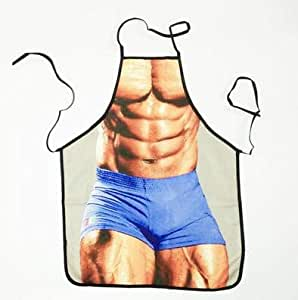 Sexy Muscle Man Funny Aprons Novelty Adult Party Cooking
