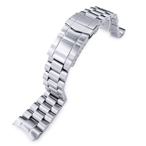 22mm Endmill 316L SS Watch Bracelet for Orient Mako II & Ray II, Submariner Clasp Brushed