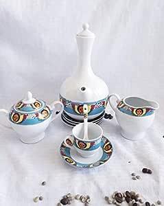 Amazon.com   Ethiopian Angel art Collection 23-Piece Coffee Ceremony Set: Coffee Serving Sets