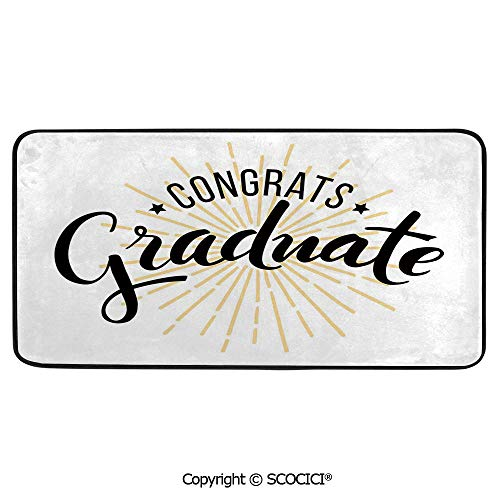 - Print Door Mat, Indoor Floor Area Carpet Compatible Bedroom,Living Room,Children, Playroom, Bathroom,Graduation Decor,High School University Academy Commendation Honors,39