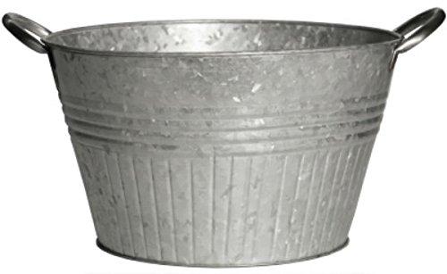 Robert Allen Mpt01647 Round Tub Planter With Handles, 10