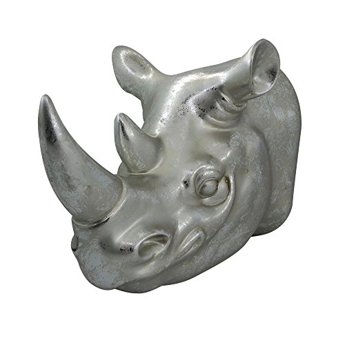 Gorgeousstyles Rhinos Head Wall Mounted Sculpture for Home Decor ()
