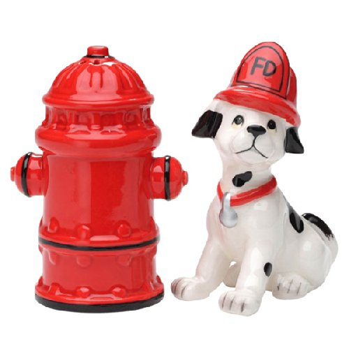 Cosmos Gifts 50158 Fire Post & Dog Salt And Pepper B005HJKSZG