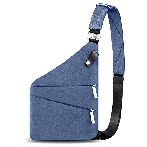 Sling Bag, Crossbody Anti-theft Daypack Invisible Backpacks for Men Blue