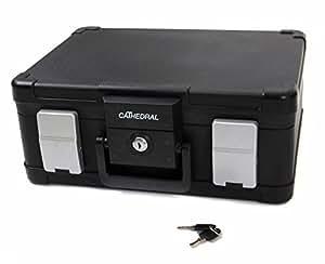 Cathedral - Caja para documentos (ignífuga, impermeable, tamaño A4)