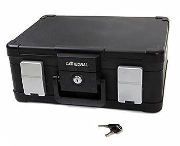 Cathedral - Caja para documentos (ignífuga, impermeable, tamaño A4): Amazon.es: Oficina y papelería