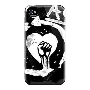 LauraAdamicska Iphone 4/4s Shock-Absorbing Hard Cell-phone Cases Unique Design Attractive Metallica Skin [CjU585aSae]