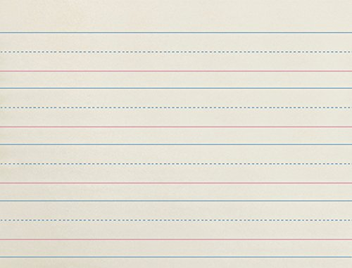 School Smart Zaner-Bloser Paper, 1-1/8 Inch Ruled, 10-1/2 x 8 Inches, 500 Sheets