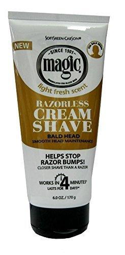 Magic Hair Removal & Shaving Cream Smooth Strength Bald Head Maintenance 170g by Magic