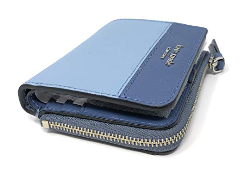 Kate Spade New York Cameron L-Zip Bifold Wallet Two Tone Blue