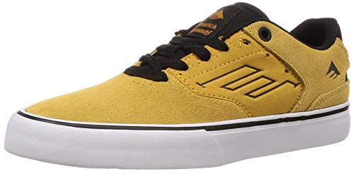 Emerica Men's The Reynolds Low Vulc Skate Shoe Yellow 10.5 Medium US