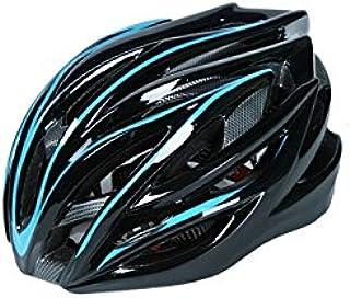 Plsonk Unique Hommes Femmes Une Pièce Casque Réglable Vélo Casque Casque de Vélo de Montagne poreux (Bleu + Noir) pour Le Sport