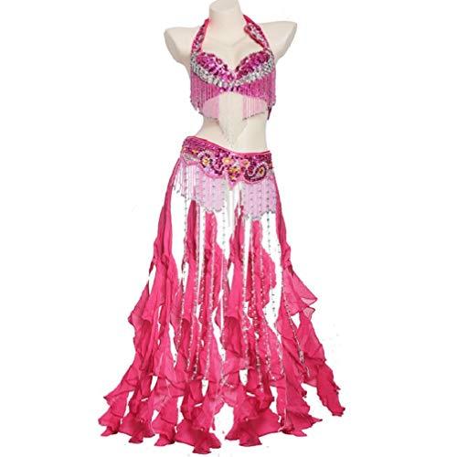 xl L 2 Wqwlf Dancewear Pendolo Danza Top Del Vestito Prestazioni Belly Di Donne Frangia Ventre Belt Pezzi Professionali Per Rose Bra Le 4gq1Hw4Ox