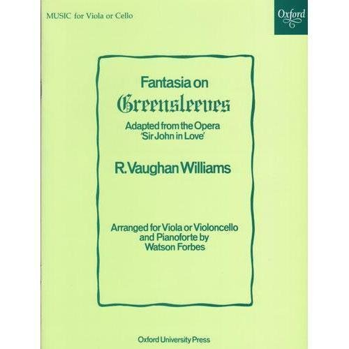 Vaughan Williams, Ralph Fantasia On Greensleeves For Viola or Cello and Piano by Oxford University