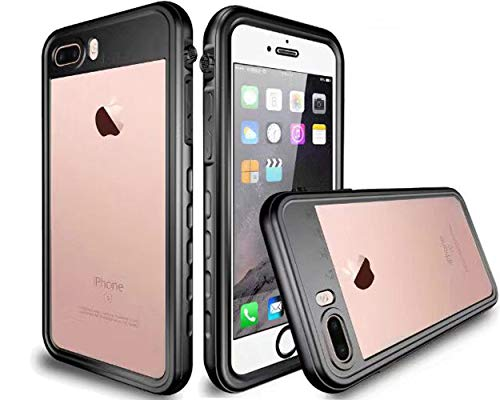 MQOUNY Waterproof Case for iPhone 7 Plus Waterproof case,for iPhone 8 Plus Waterproof Case, Full Body Protective Waterproof Case Compatible with iPhone 7 Plus/iPhone 8 Plus (Black) (Best Iphone 7 Plus Waterproof)