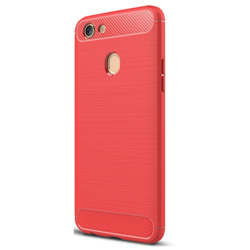 413acrPTsPL OPPO F5 Case, Xigua Ultra Light Slim Shockproof Silicone TPU [Anti Slip] [Scratch Resistant]Protective Case Cover for OPPO F5 Protective Shell (Red).