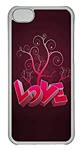 linJUN FENGipod touch 5 Case 3D Heart And Tree PC ipod touch 5 Case Cover Transparent