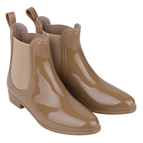 Japado - Botas de agua Mujer Marrón - marrón claro