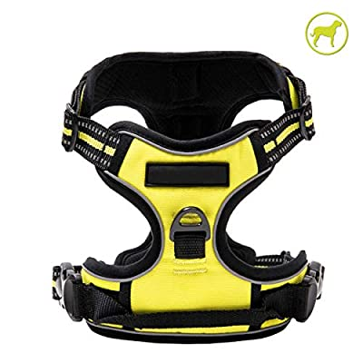 Docamor Dog Harness Reflective Vest Harness Adjustable Pet Harness for Big Dog Outdoor Walking Training Easy Control