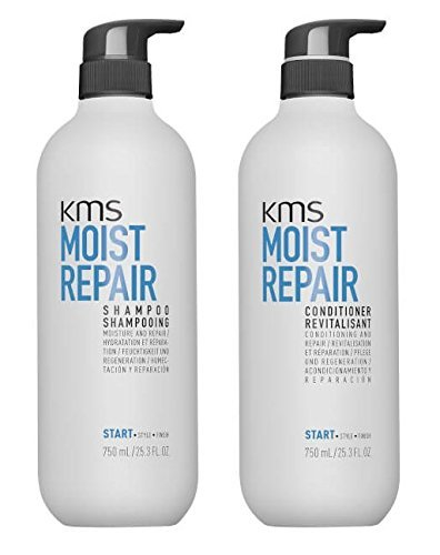 KMS Moist Repair Shampoo & Conditioner 25.3 oz / 750ml - Kms Moist Repair Shampoo