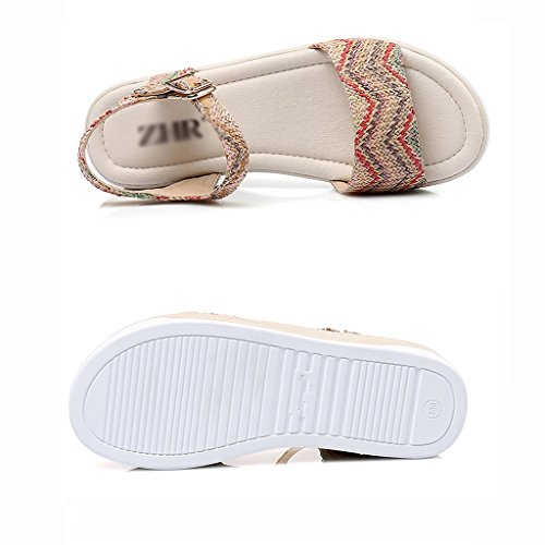 Mujer Sandalias Plataforma Xing Firm Bao zapatos 35 De Casuales Cuña zapatos Bohemia Bei sandalias size n1q4ndw0