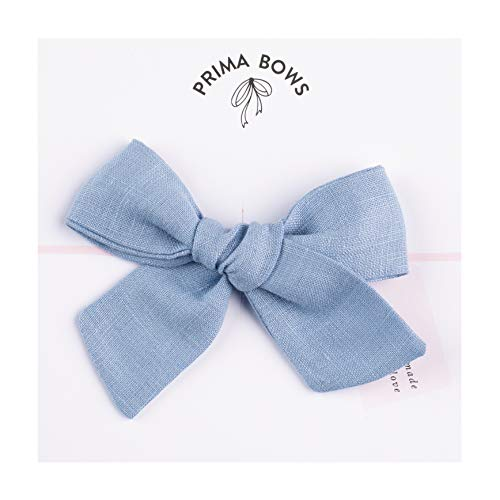 Handmade Linen Baby Bow by Prima Bows