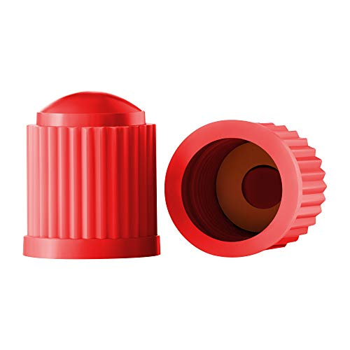(Valve-Loc Tire Valve Caps (25-Pack) Red, Universal Stem Covers for Cars, SUVs, Bike and Bicycle, Trucks, Motorcycles | Heavy-Duty, Airtight Seal | Screw-On, Easy-Grip Use)