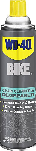 WD-40 Bike Chain Cleaner & Degreaser – Fast-Penetrating Bike Chain Cleaner. 10 oz. (Pack of 1)