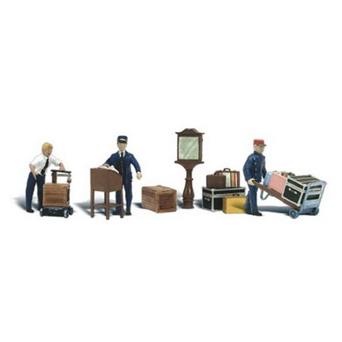 Woodland Scenics N Scale Scenic Accents Depot Workers & Accessories
